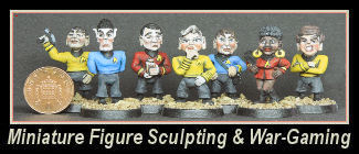 Miniature figure sculpting for war-gaming, collectors model makers and dioramas.